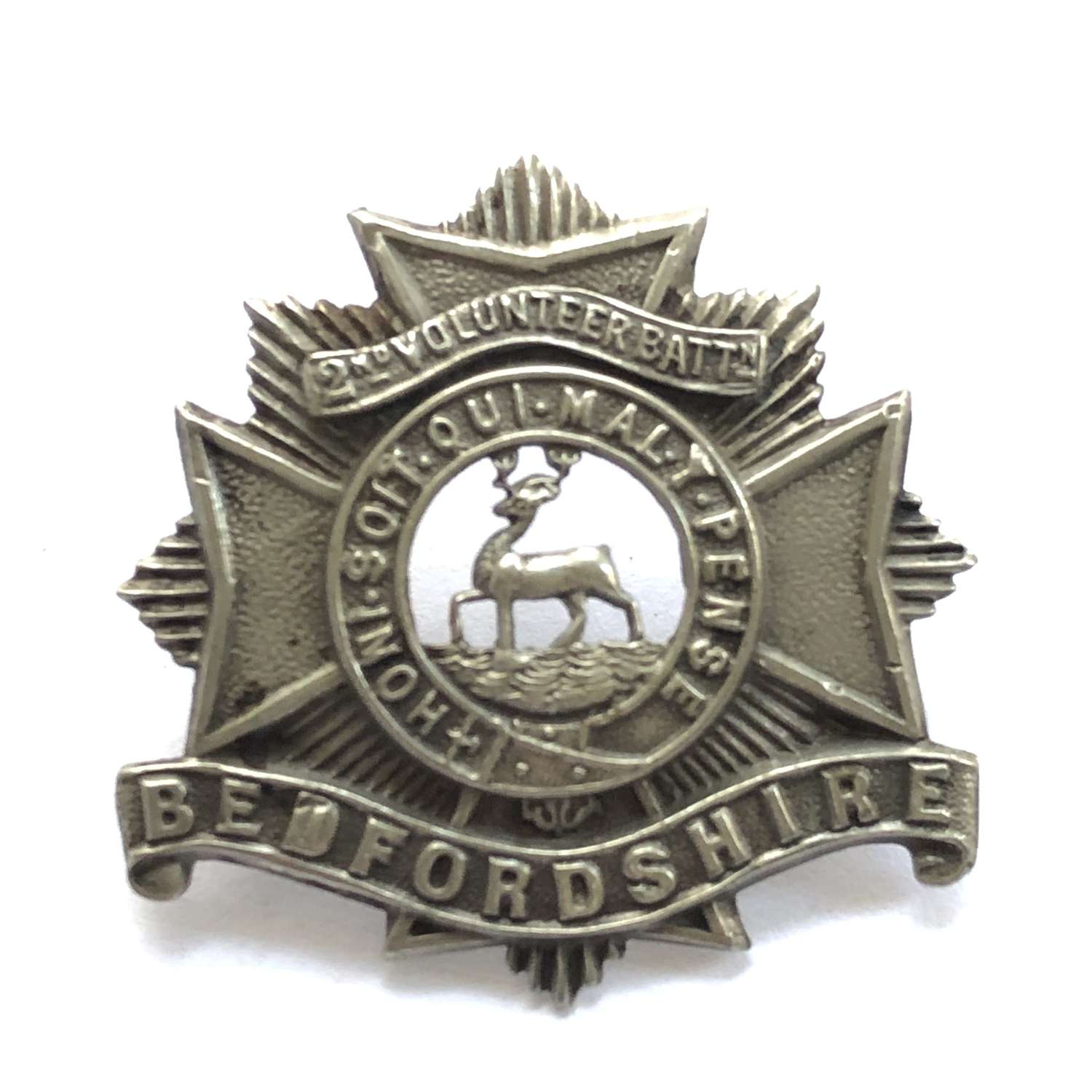 2nd (Hemel Helpstead) VB Bedfordshire Regiment pre 1908 cap badge