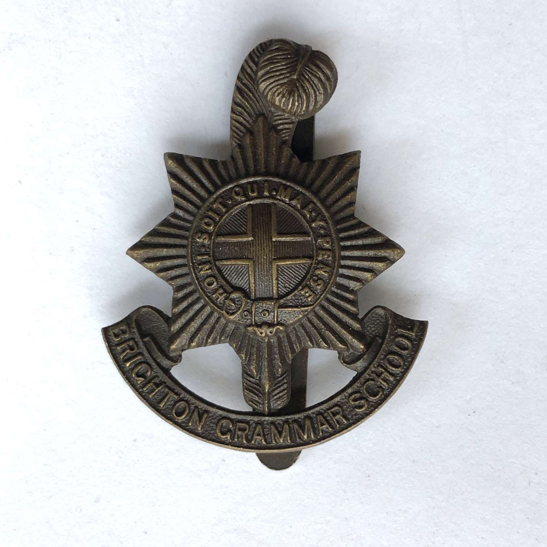 Brighton Grammar School OTC cap badge by J.R. Gaunt, London
