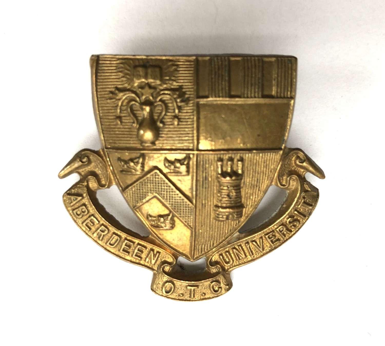 Scottish. Aberdeen University OTC cap badge