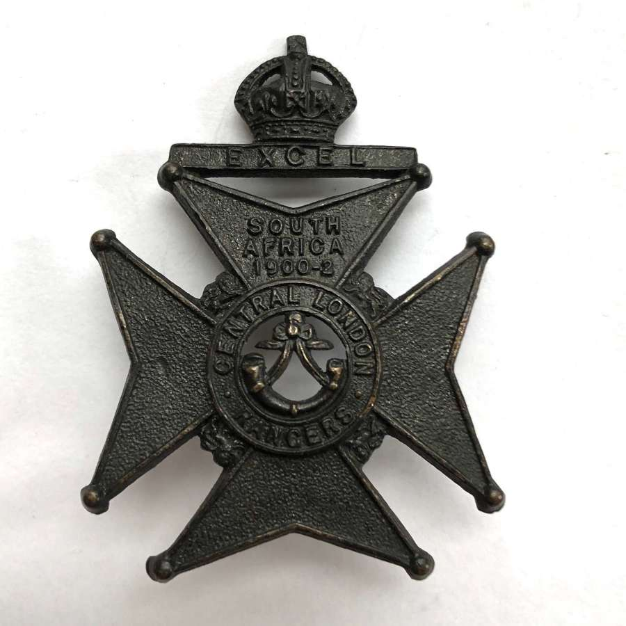 22nd Middlesex, Central London Rangers cap badge circa 1905-08 only