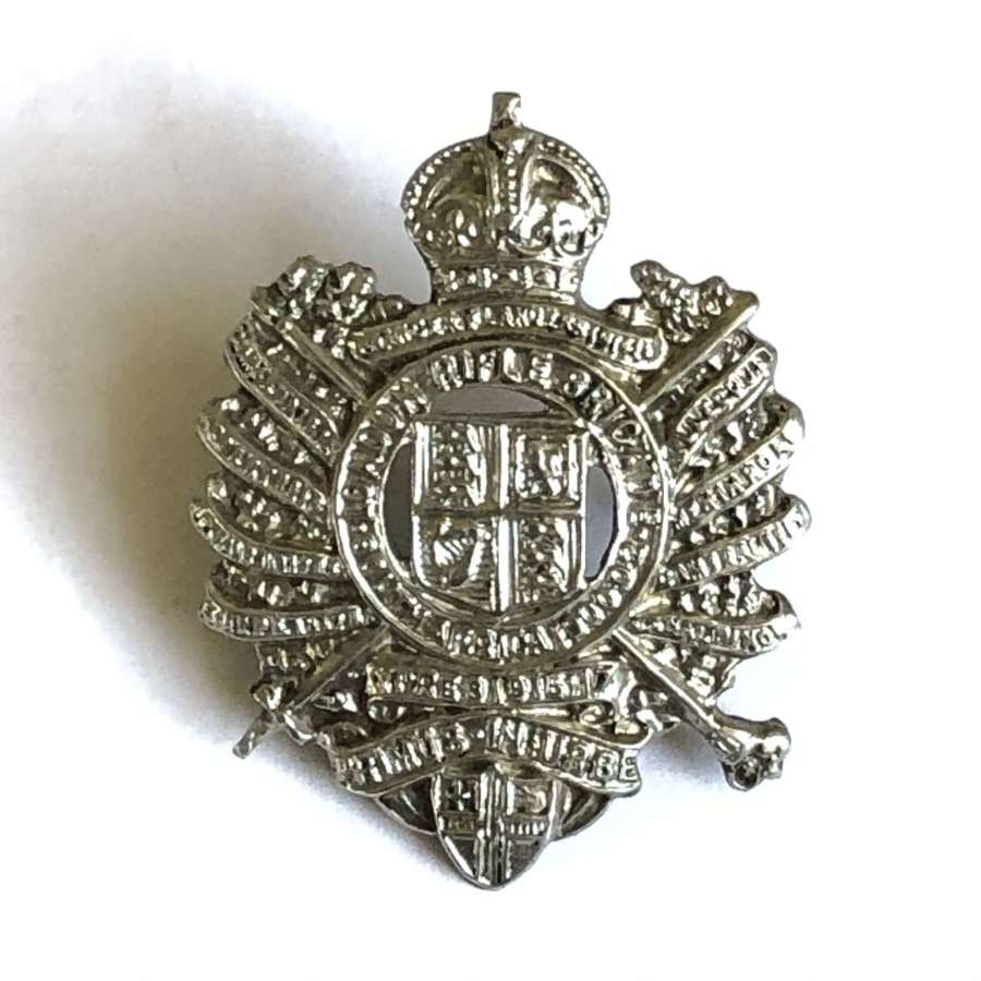 London Rifle Brigade WW2 field service cap badge