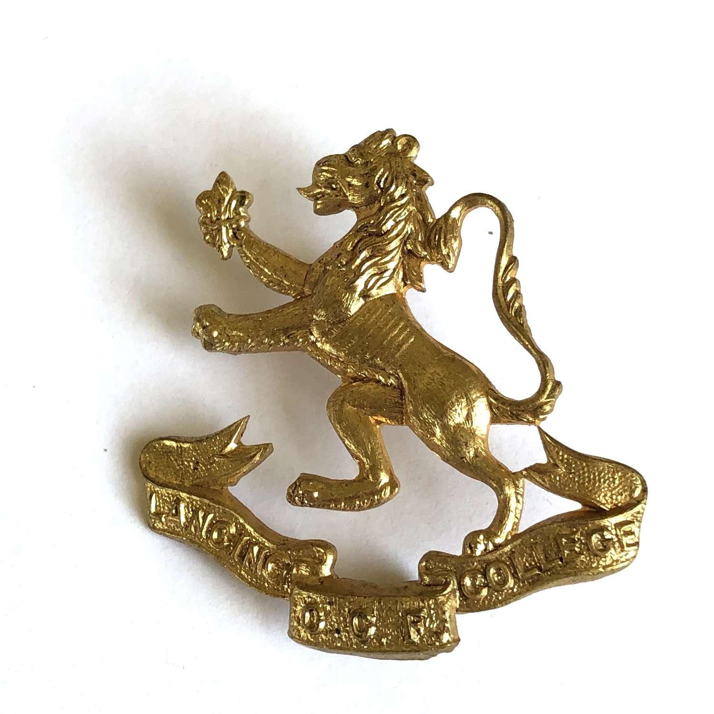 Lancing College CCF Sussex cap badge