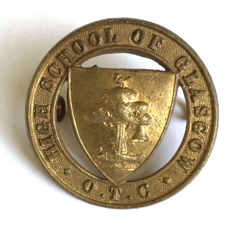 Scottish. High School of Glasgow OTC cap badge by JR Gaunt, London