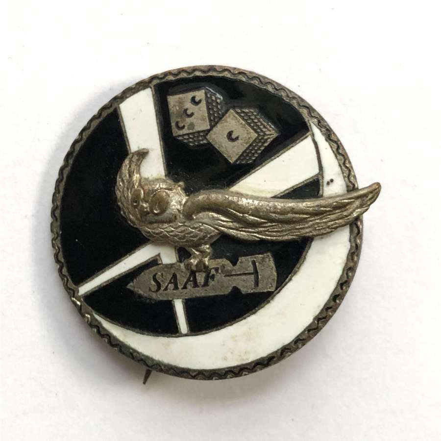 31 Squadron WW2 South African Air Force enamel badge