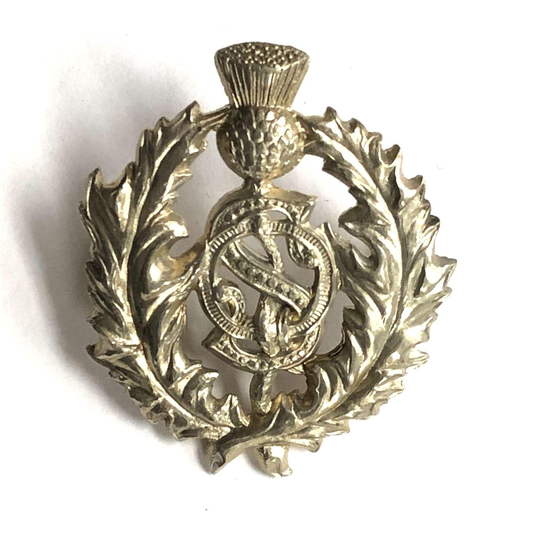 Australian. Queensland Scottish Victorian gengarry badge c1885-96