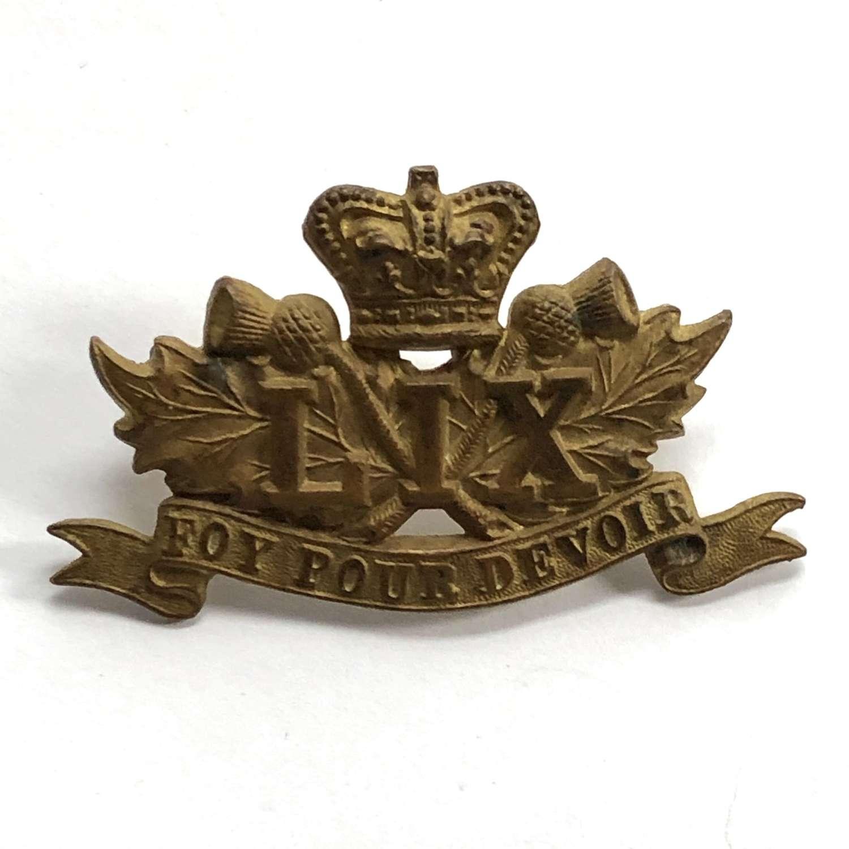 59th Regiment (Stormont & Glengarry) Canadian Militia glengarry badge