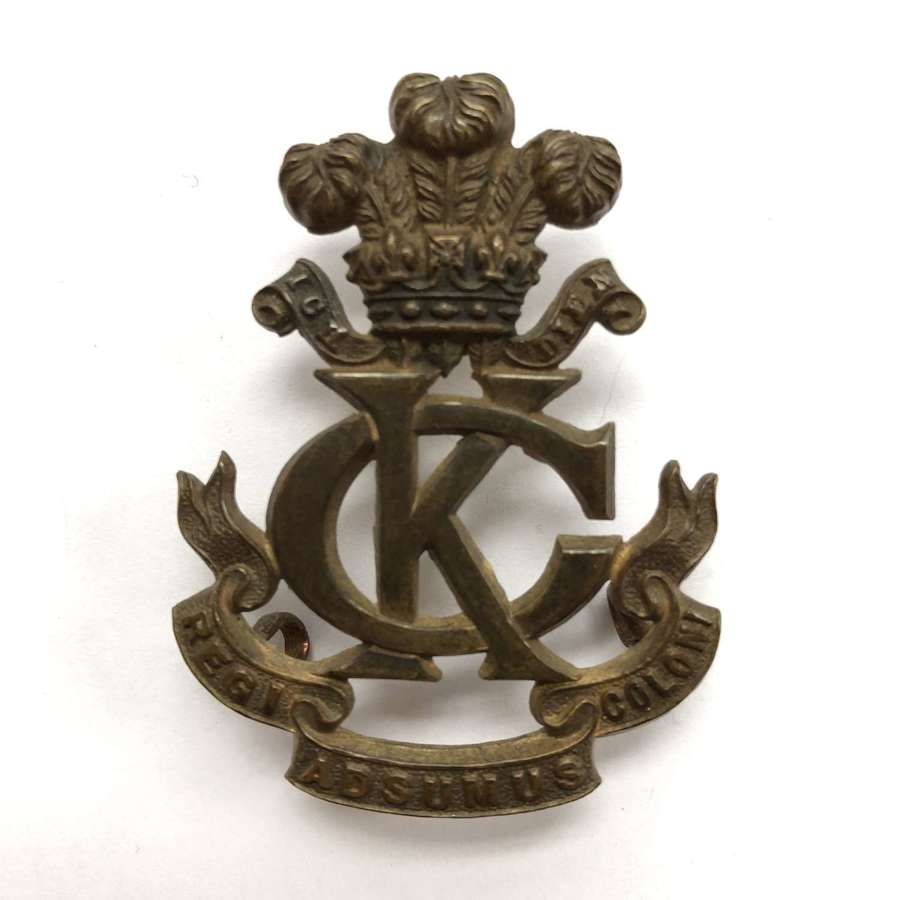 King's Colonials Boer War slouch hat badge
