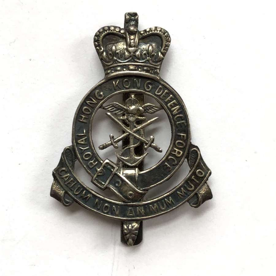Royal Hong Kong Defence Force Officer's cap badge c1952-20