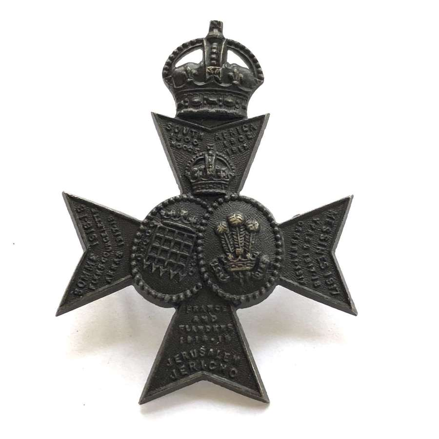16th London post 1922 Officer's cap badge by Gaunt late Jennens