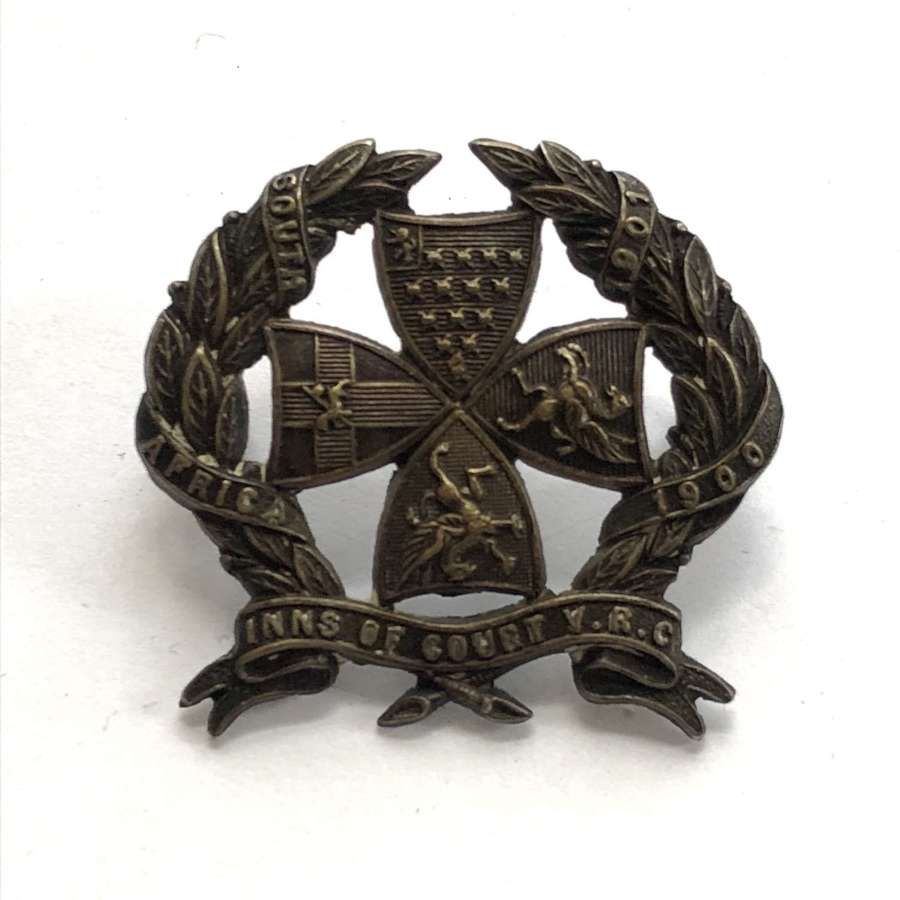 Inns of Court Volunteer Rifle Corps Officer's cap badge c1905-08