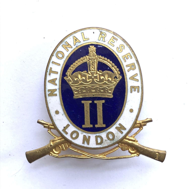 London National Reserve lapel badge by JR Gaunt, London
