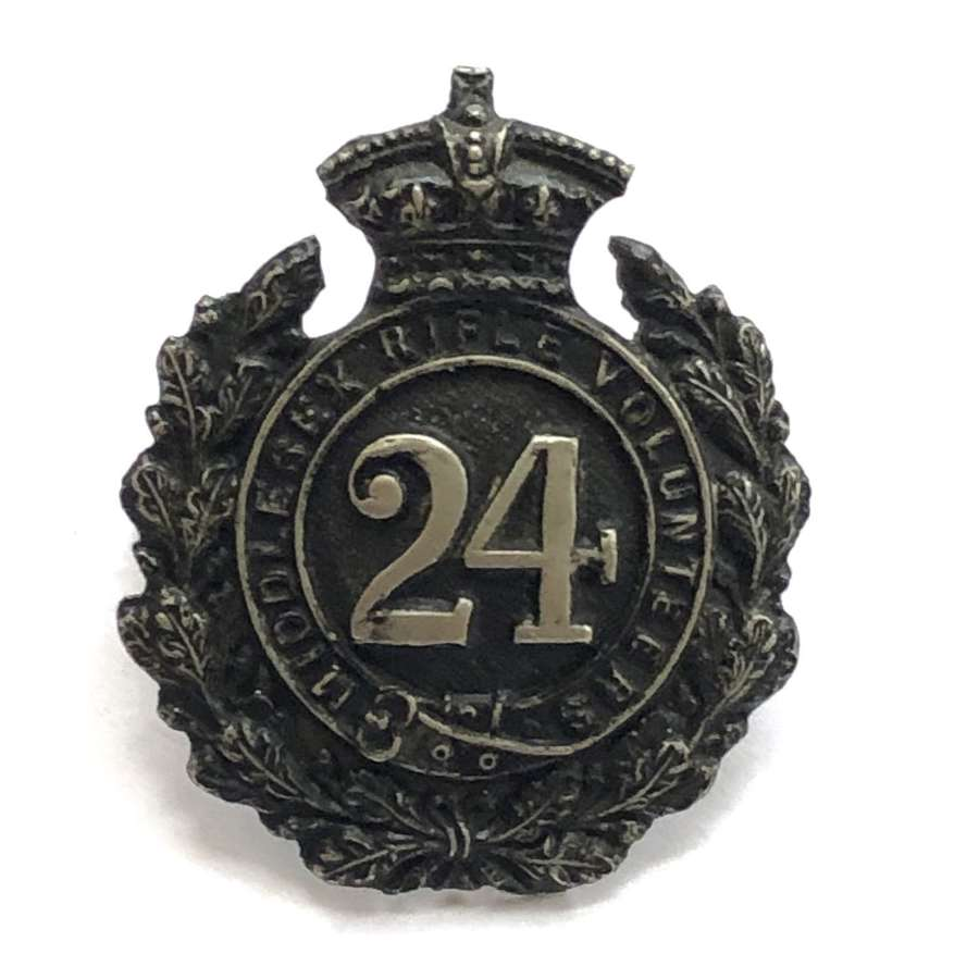 24th Middlesex Rifle Volunteers (Post Office) Victorian cap badge