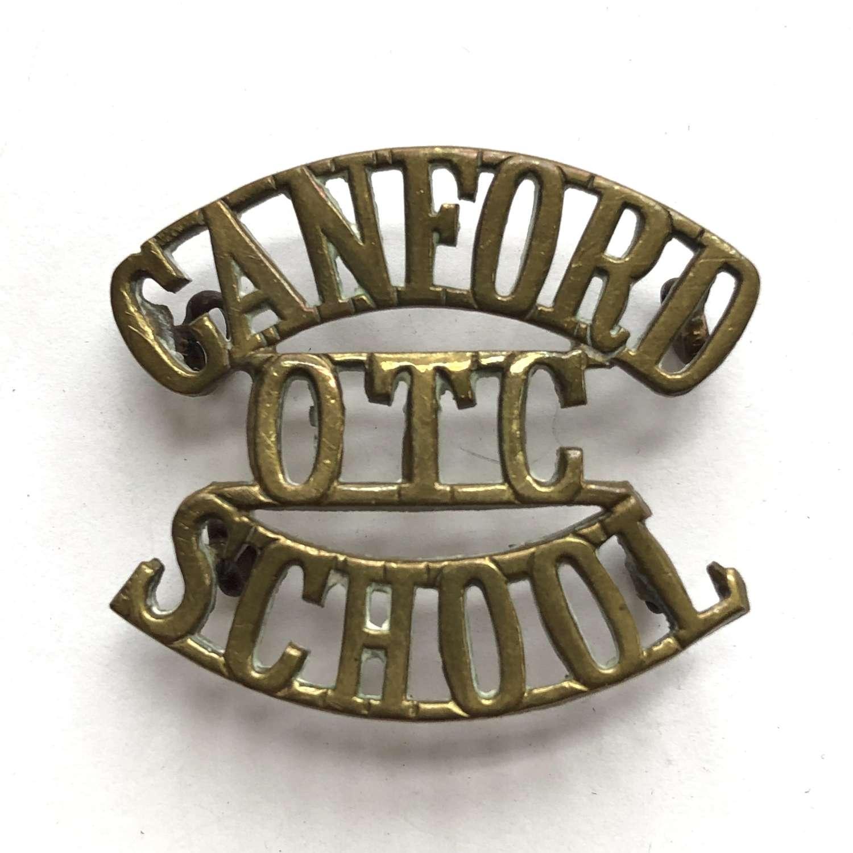 CANFORD/OTC/SCHOOL Wimborne, Dorset shoulder title