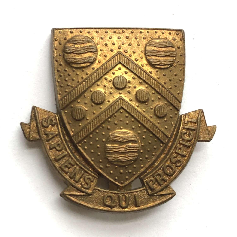 Malvern College OTC Worcestershire cap badge
