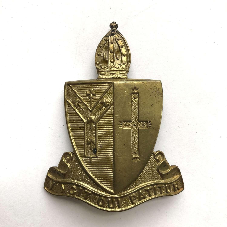Whitgift School OTC, Croydon, Surrey cap badge by Fattorini Ltd.