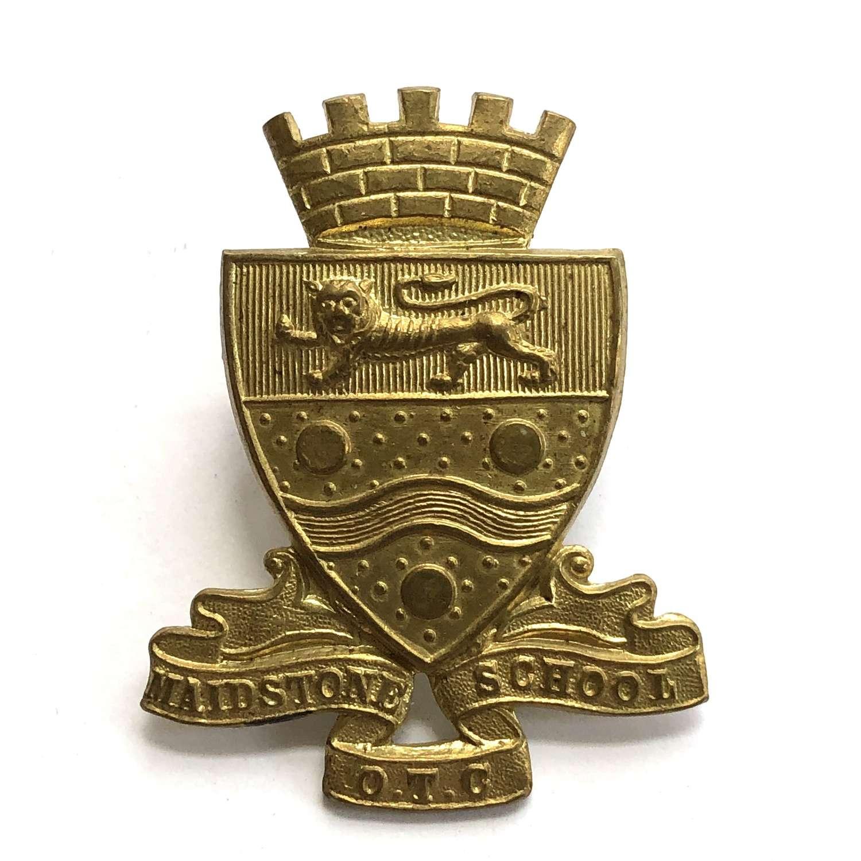 Maidstone School OTC, Kent cap badge