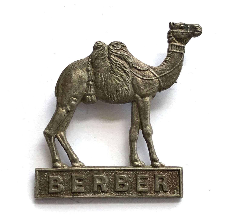 Sudan. Berber Province Police 1930's cap / pagri badge