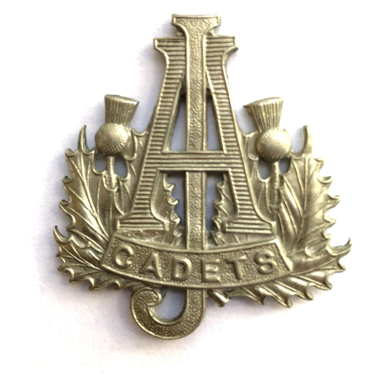 Scottish. Arrol-Johnston Cadet Corps cap badge.