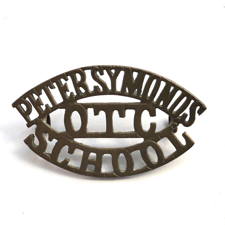 PETER SYMONDS / OTC / SCHOOL Hampshire shoulder title