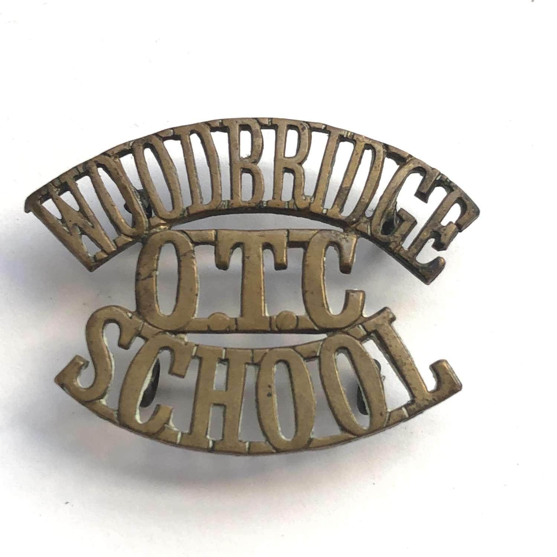 WOODBRIDGE / OTC / SCHOOL Suffolk shoulder title