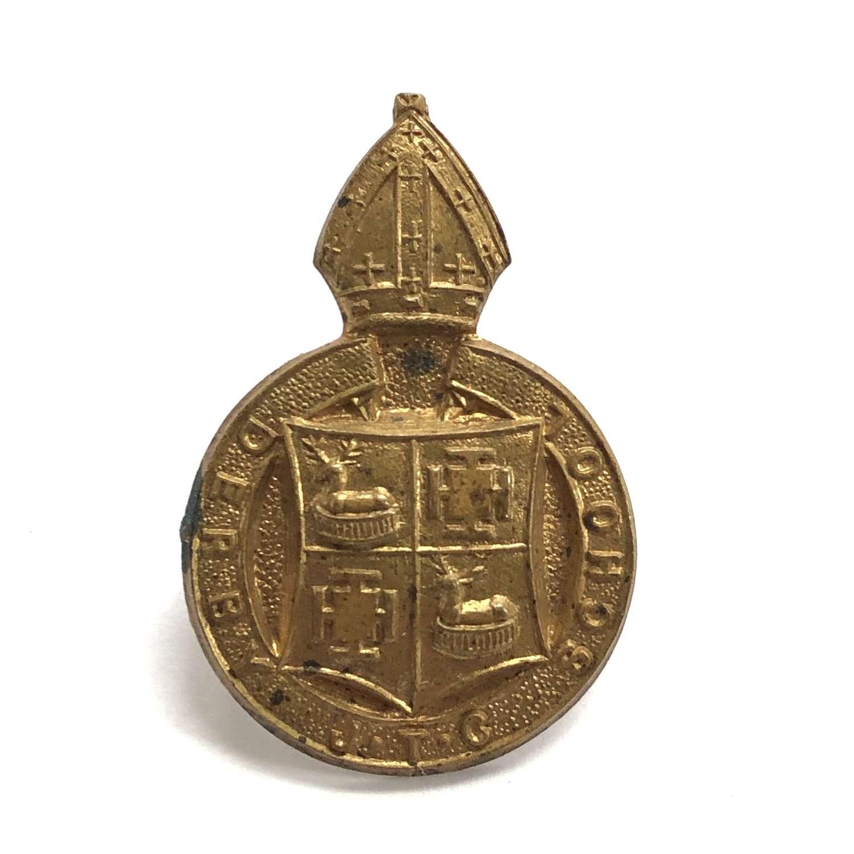 Derby School JTC cap badge circa 1940-48 only