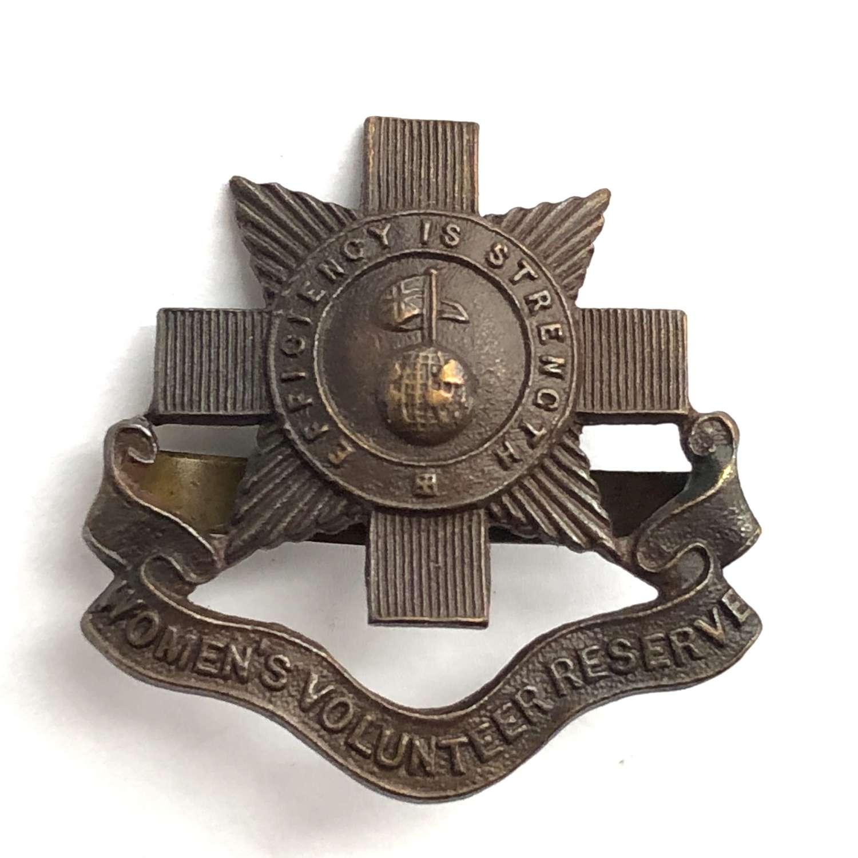 Women's Volunteer Reserve WW1 cap badge