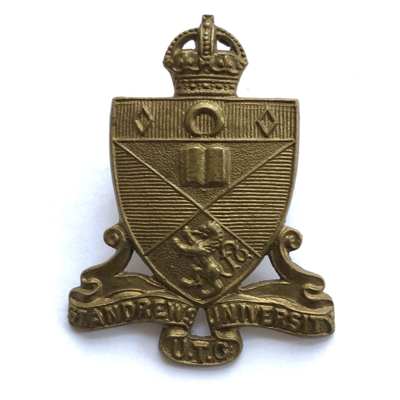 Scottish. St. Andrews University UTC cap badge circa 1948-52