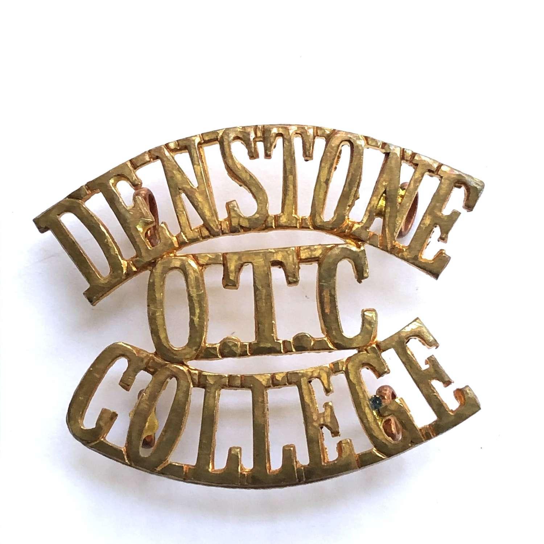 DENSTONE / OTC / COLLEGE Staffordshire shoulder title circa 1908-40