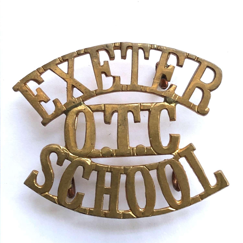 EXETER / OTC / SCHOOL Devon shoulder title circa 1908-40