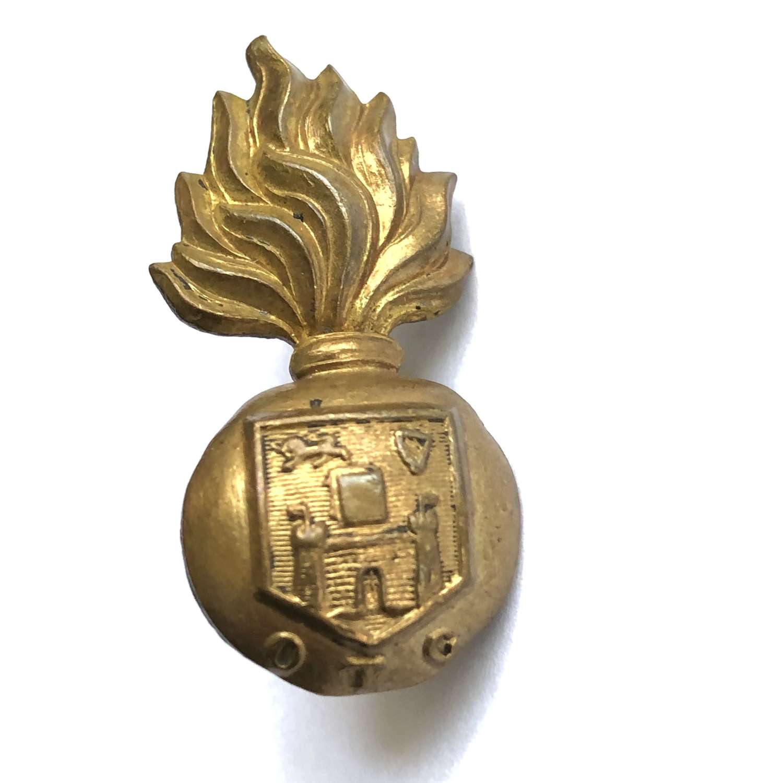 Irish Dublin University OTC field service cap badge circa 1902-22