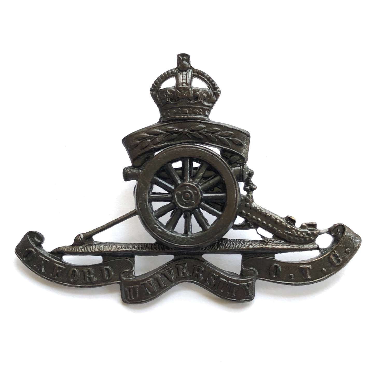 Oxford University OTC-Royal Artillery Section cap badge