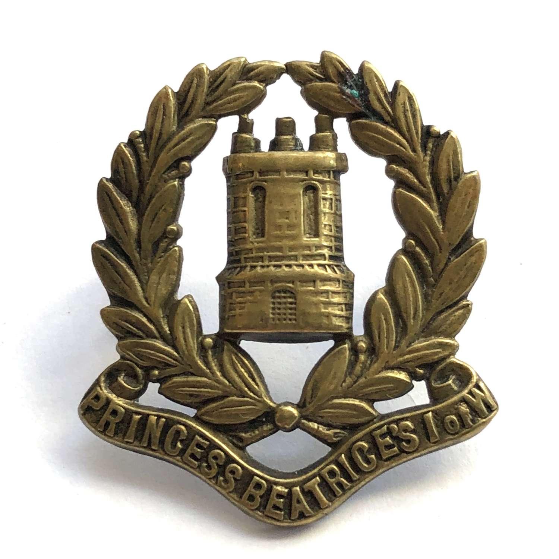 5th VB (Isle of Wight) Hampshire Regiment Victorian cap badge