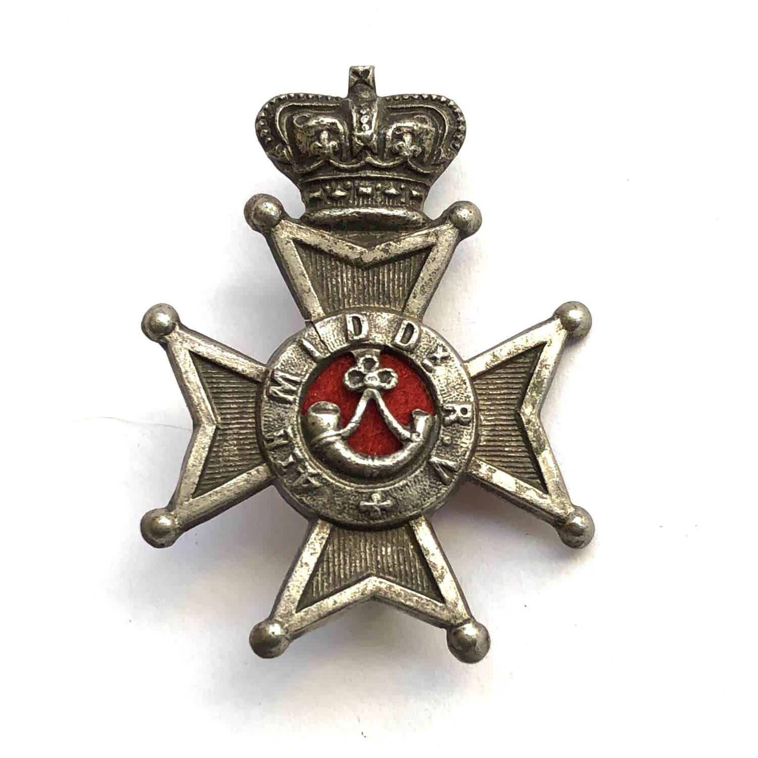 4th Middlesex Rifle Volunteers VictorianOfficer's cap badge