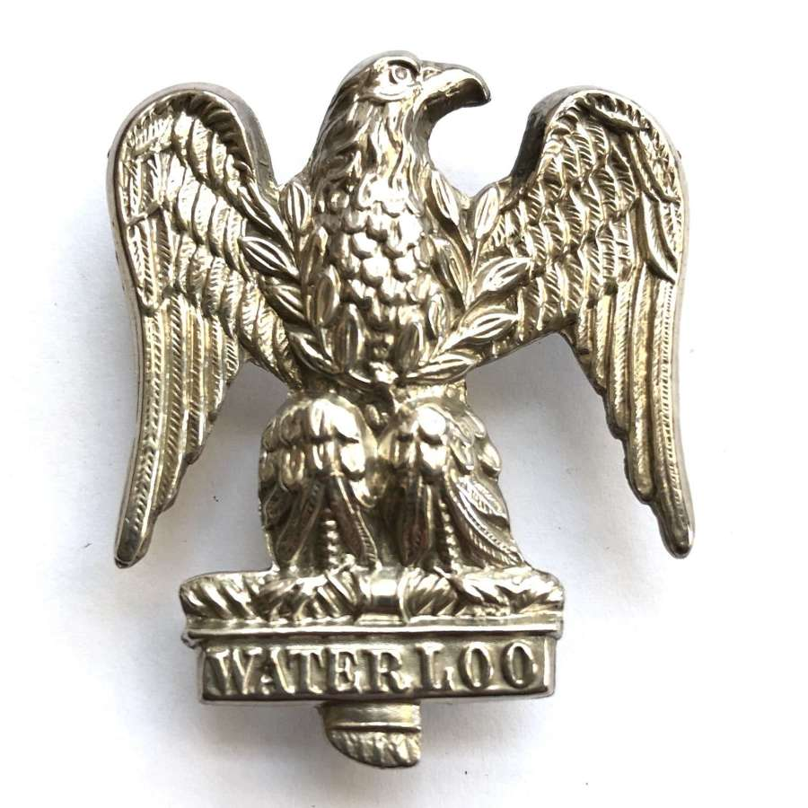 Royal Scots Greys hallmarked Birmingham 1902 silver NCO's arm badge
