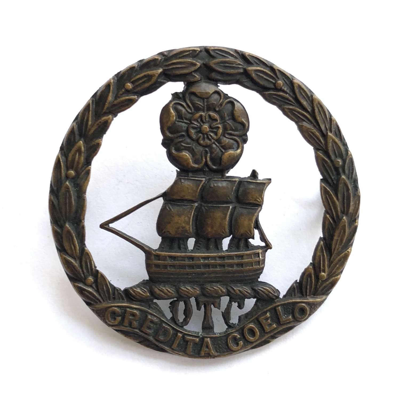 Churchers College OTC cap badge circa 1908-40