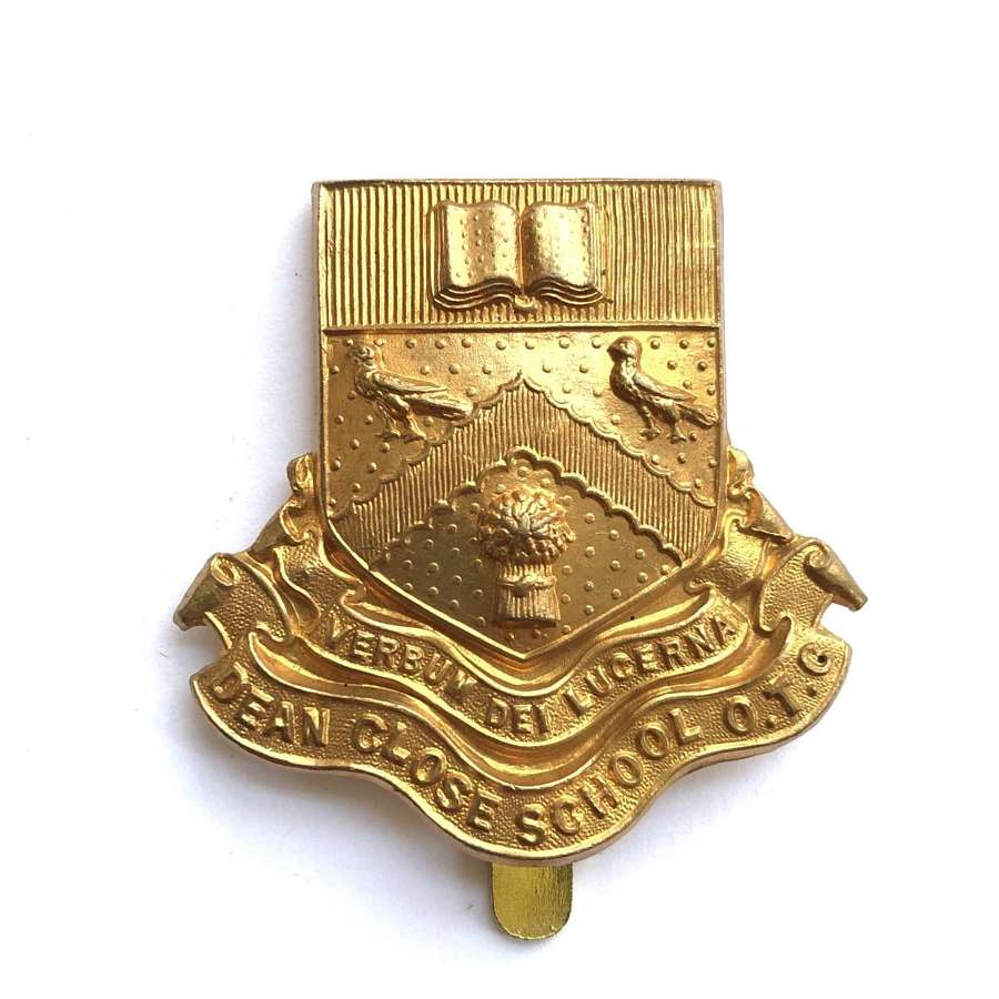 Dean Close School OTC Gloucestershire cap badge circa 1908-40