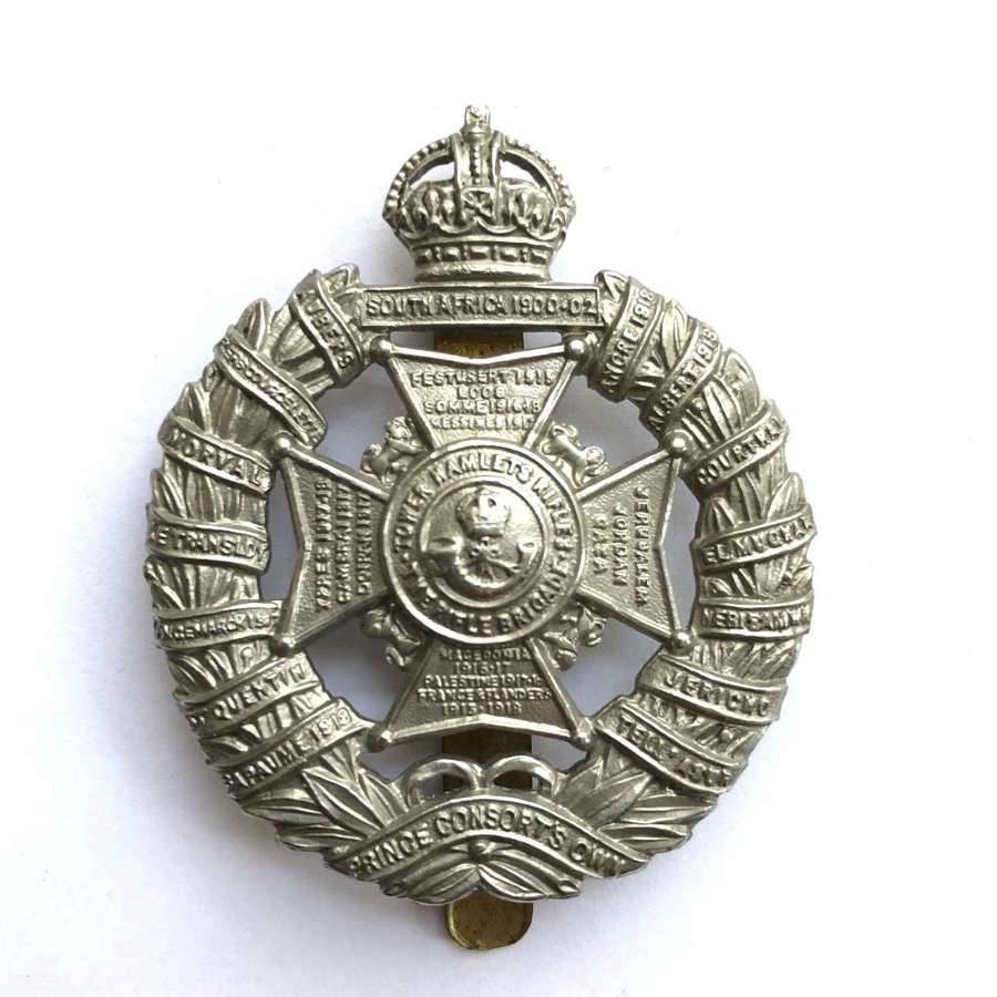 Tower Hamlets Rifles cap badge circa 1926-49