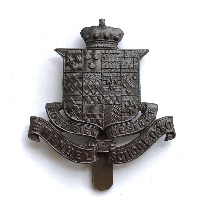 Emanual School OTC Wnndsworth, London cap badge circa 1908-40