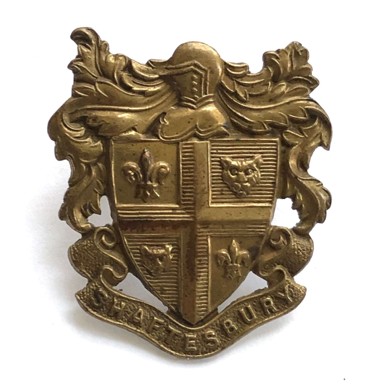 Shaftesbury School OTC Dorset cap badge circa 1908-40