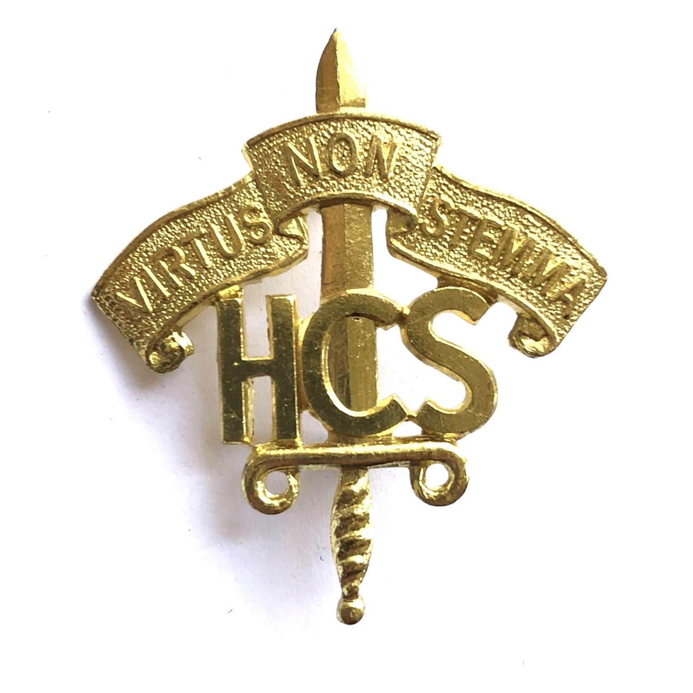 Harrow County School OTC / CCF Middlesex cap badge