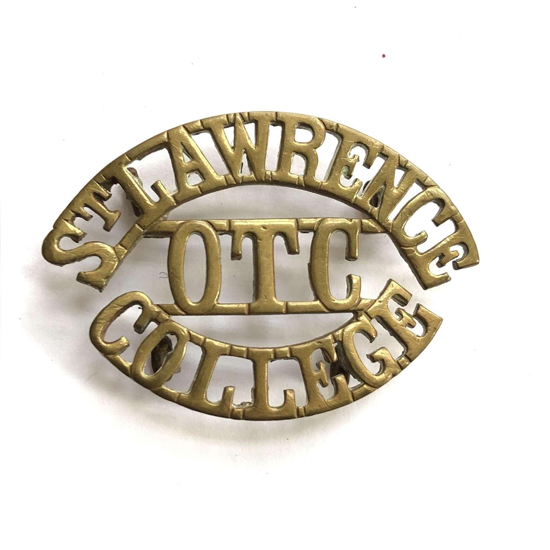 ST LAWRENCE / OTC / COLLEGE, Ramsgate, Kent shouder title