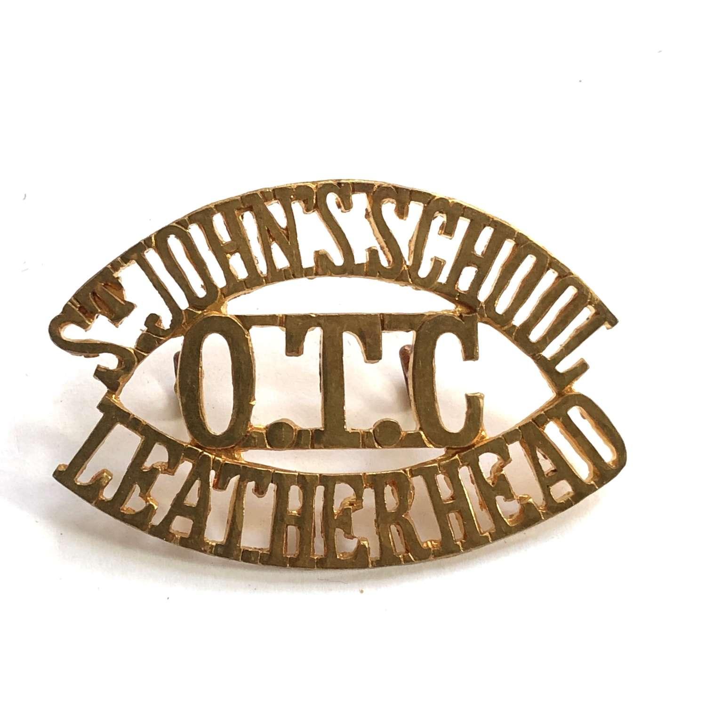 ST JOHNS SCHOOL  / OTC / LEATHERHEAD Surrey shouder title title