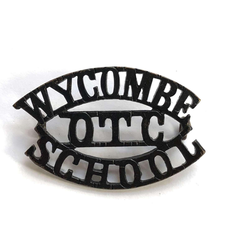 WYCOMBE  / OTC / SCHOOL Buckinghamshire shouder title