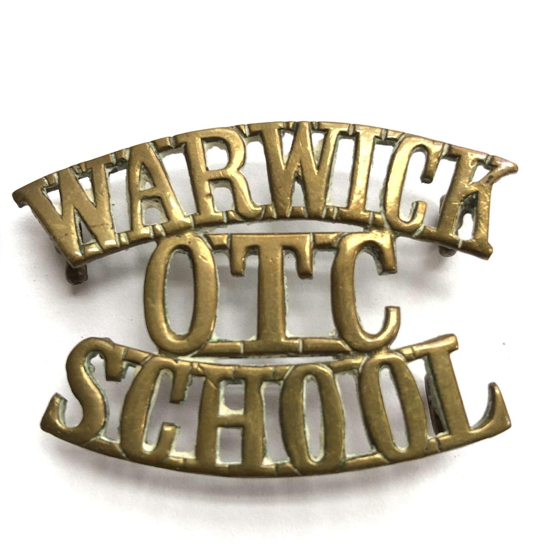 WARWICK / OTC / SCHOOL shoulder title circa 1908-40