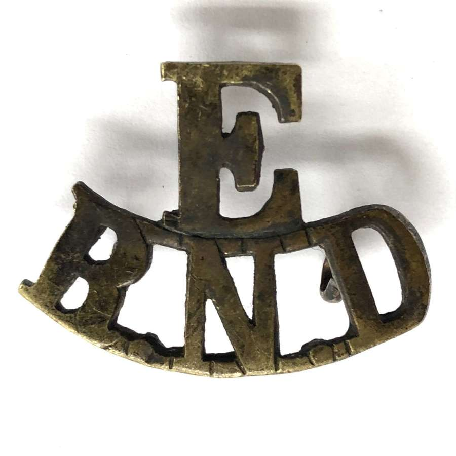 E / RND Royal Naval Division Engineers WW1 shoulder title
