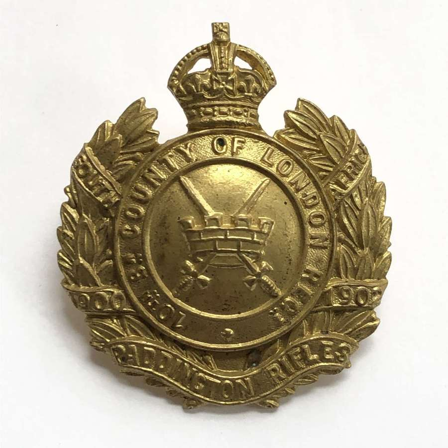 10th London Regiment (Paddington Rifles) cap badge c 1908-12