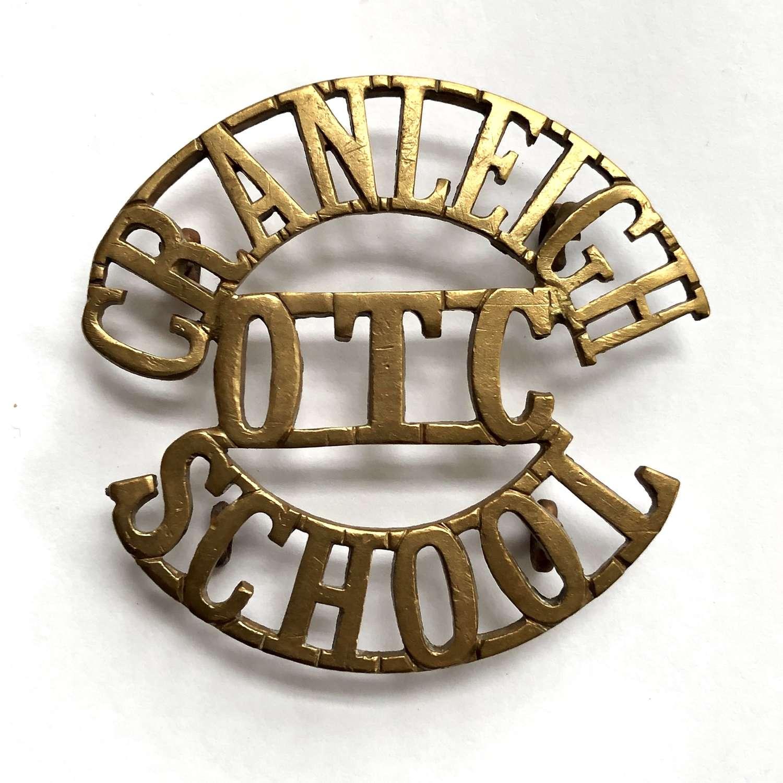 CRANLEIGH / OTC / SCHOOL large Surrey shoulder title circa 1908-40