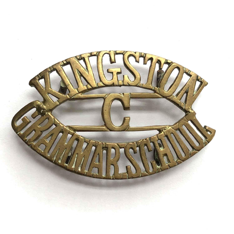 KINGSTON / C / GRAMMAR SCHOOL Surrey shoulder title
