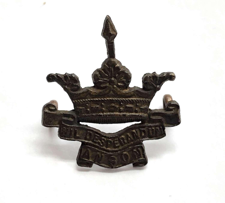 Anson Battalion Royal Naval Division OSD collar badge C1915-18