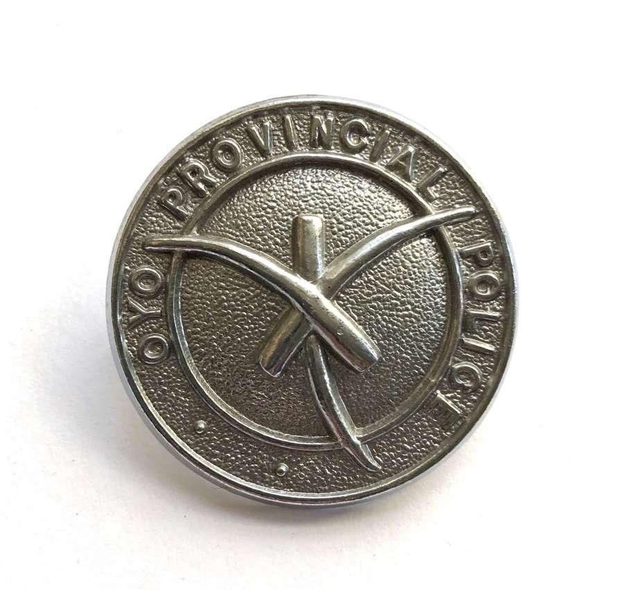 Nigeria. Oyo Provincial Police chromed cap badge
